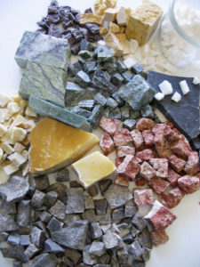 cours et stages de mosaïque - tesselles marbres