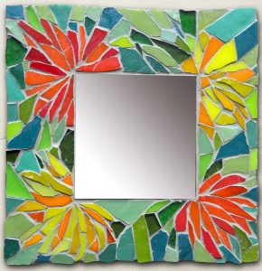 stages mosaique en medoc-miroir fleurs