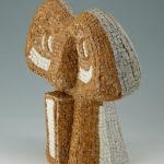 sculptures mosaïques-Totem Afrique