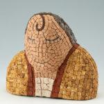 sculptures mosaïques-Visage pâle