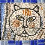 interprétation mosaïque d'œuvres contemporaines-chat jouflu
