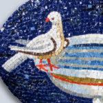 reproduction de mosaïques anciennes-Colombes- Ravenne -détail