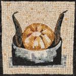 reproduction de mosaïques anciennes-melon et fèves-Vatican