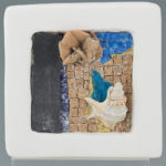 mosaïques sur chevalet- Fleur de plage 1