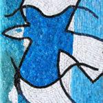 interprétation mosaïque d'œuvres contemporaines- oiseau bleu