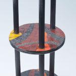 mosaïque sur mobilier-guéridon à 3 plateaux