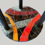 mosaïque sur mobilier-guéridon-plateau 3