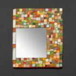 mosaïque sur objets-miroir arlequin