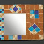 mosaïque sur objets-miroir losanges