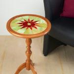 mosaïque sur mobilier-sellette