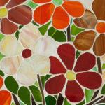 mosaïque sur mobilier-table basse-détail