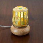 mosaïque sur objets- veilleuse jaune