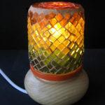 mosaïque sur objets-veilleuse orange