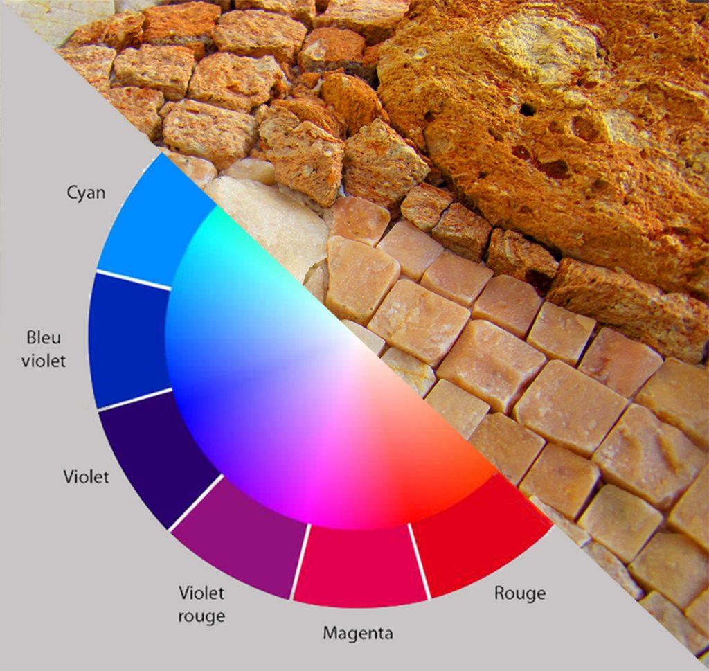 stage couleurs et matières en mosaïque